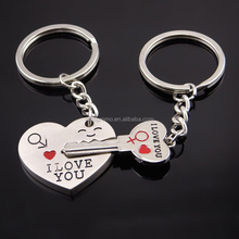 I LOVE YOU Heart Keychain Ring Keyring Lover Romantic Creative New chaveiro couple Key Chain