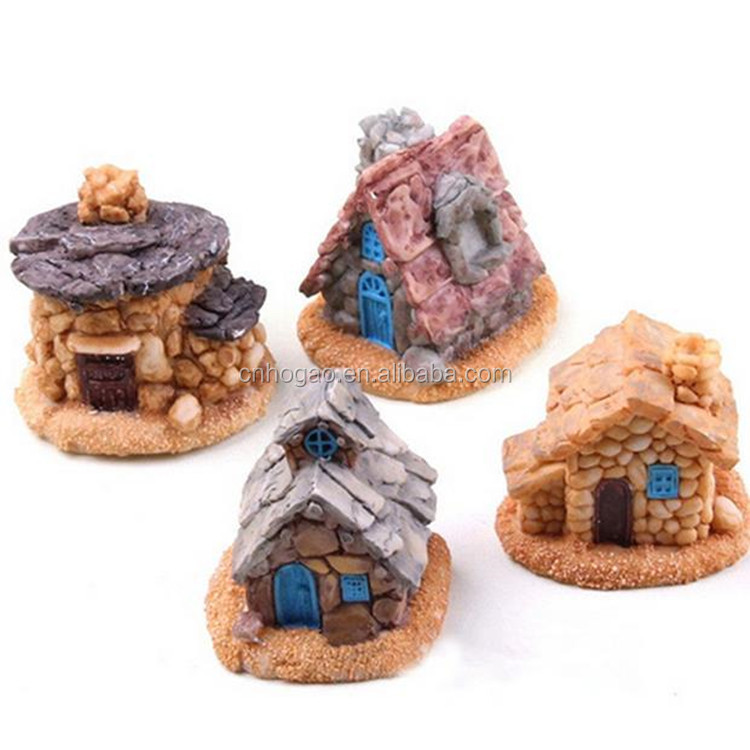 Small size resin fairy house garden miniatures accessories