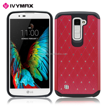 China guangzhou wholesale cellular accessories high quality diamond bumper case for LG K10