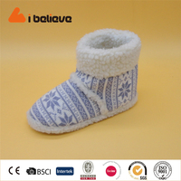 Suitable for winter footwear women knit ankle boots