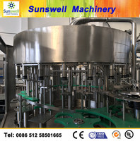 automatic small beer glass making equipment/POP -TOP glass beverage filling machine