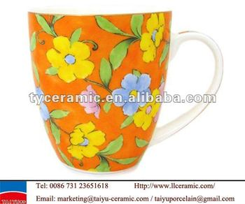 floral coffee bone china mug