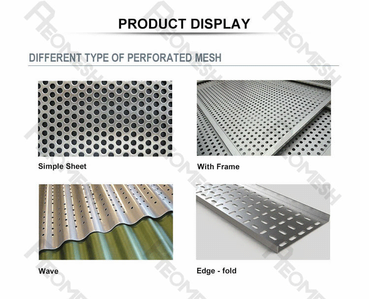 Made in Guangzhou Professional Factory Outer circle punching plate Decorative Metal Perforated Mesh