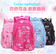 2015 Fashion Eco-friendly Cheap Custom Printed school Bag waterproof Wholesale for Promotional girl Bag