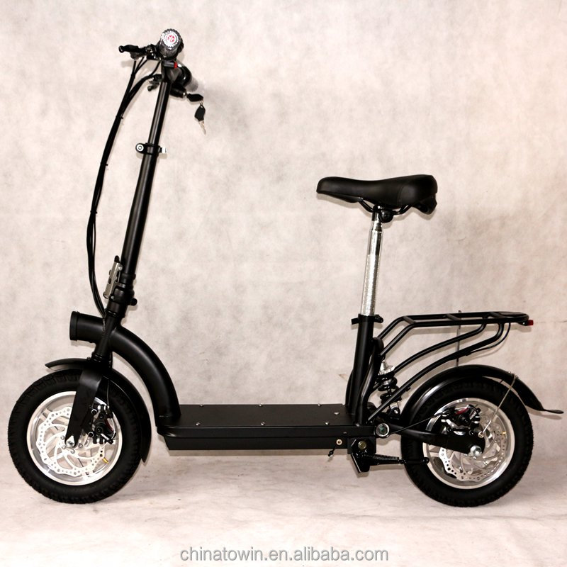 36V lithium mini electric scooter 12inch tires 300W-500W folding electric scooter with rear Carrier/with seat/without seat