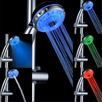 temperature sensor 3 colors led music lighting shower head LD8008-A21