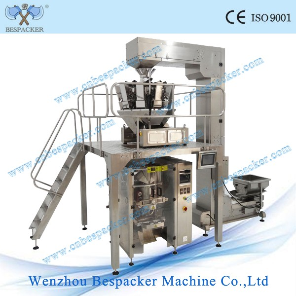 Automatic rice potato chips tea bag sugar pouch vertical packing machine