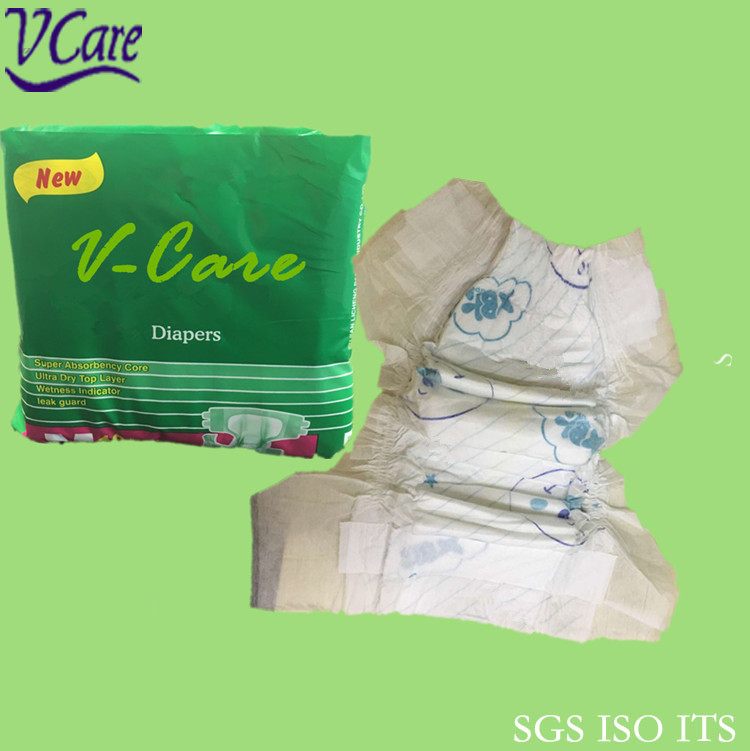 China B Grade Low Price Sleepy Baby Diaper Fujian Manufacturers