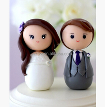 custom design made 15 cm cute vinyl figure toys married couple lover toys for wedding china suppliers