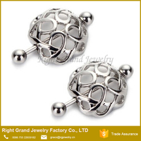 316L Surgical Steel Piercing Nipple Ring Shield Clip on Nest Ring Shape Nipple Piercing