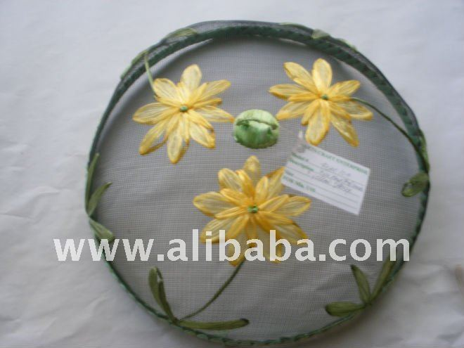 Embroidered Wire Mesh Food Cover