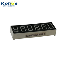Small 0.36 inch 6 digit SIP 14pins CC 7 segment led clock number display with 5 decimal points