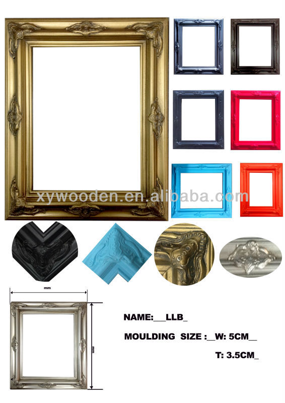 Colourful funny photo frame wood frame snap frame