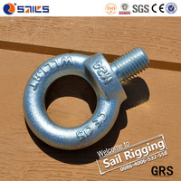 Din580 Drop forged m16 galvanized eye bolts