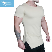 mens blank tall t shirts wholesale 100 combed cotton athletic gym t shirts