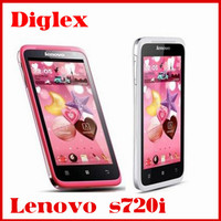 Newest wholesale lenovo s720i android 4.1 mtk 6577 dual core 1G RAM 4G ROM GPS Wifi Bluetooth 8MP dual sim card