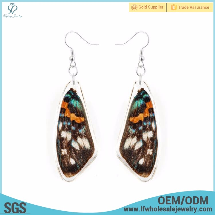 Fashion design latest model butterfly wings china 925 silver earrings jewelry