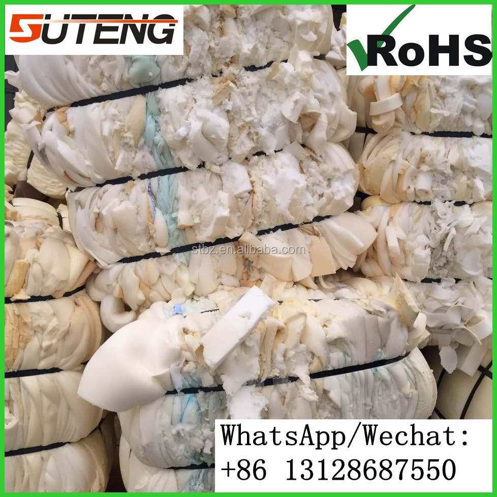 A grade polyurethane recycled plastic pu scrap foam shredded memory foam scrap for sale