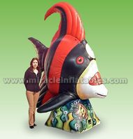 Quick delivery inflatable fish,giant animal model hot air balloon C3003