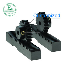 High impact resistance cnc machined nylon gear rack and pinion PA6 plastic gear rack