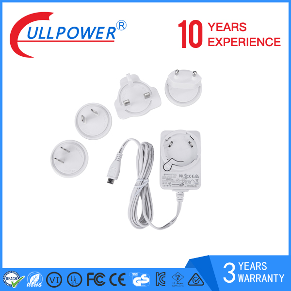 factory selling 4 plug EU UK AU US 5v2a series interchangeable usb port travel charger for smartphone