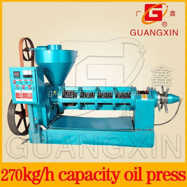 High output plant and vegetable oil cold and heat spiral squeeze small oil produce machine