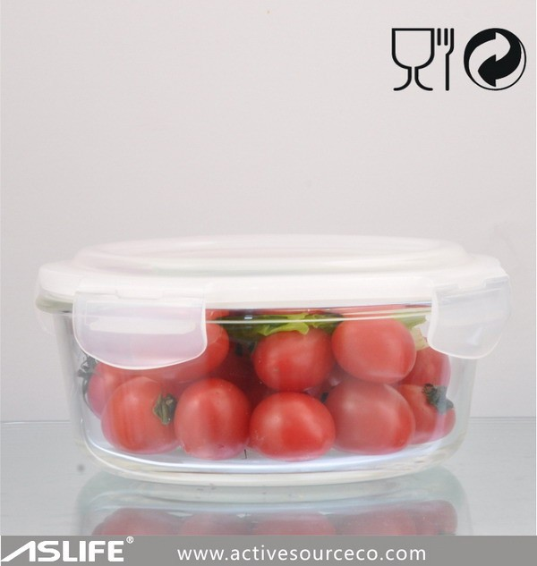 ASRP950_950ml Airtight food container glass lock and lock food container