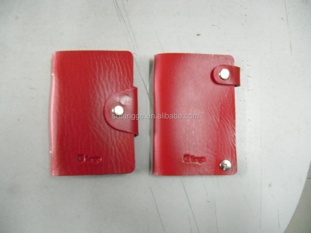 Hot sale personalized leather business card holder wallet