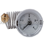 China High quality Plastic temperature Capillary thermometer bourdon tube pressure gauge