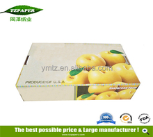Colorful Printed fruit and vegetables packaging materials Apple pears Mango Fruit Packaging box