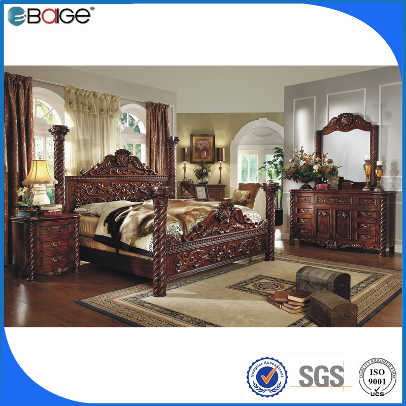 wood double bed design/mdf bedroom set