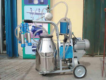 Movable Cow Milking Machine Vacuum pump cow milking machine price Widely used portable dairy goats milking machine