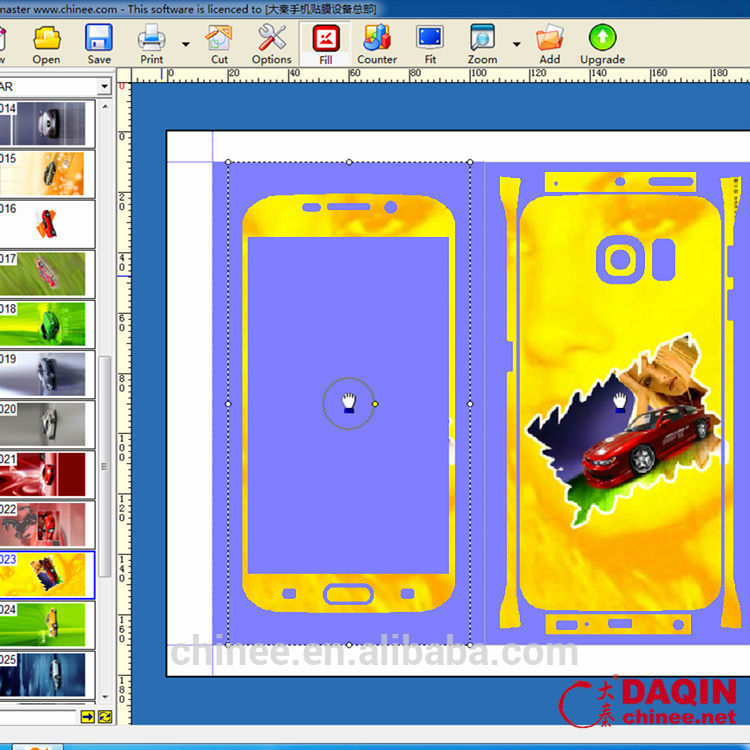 3d mobile skin cutting software for any model