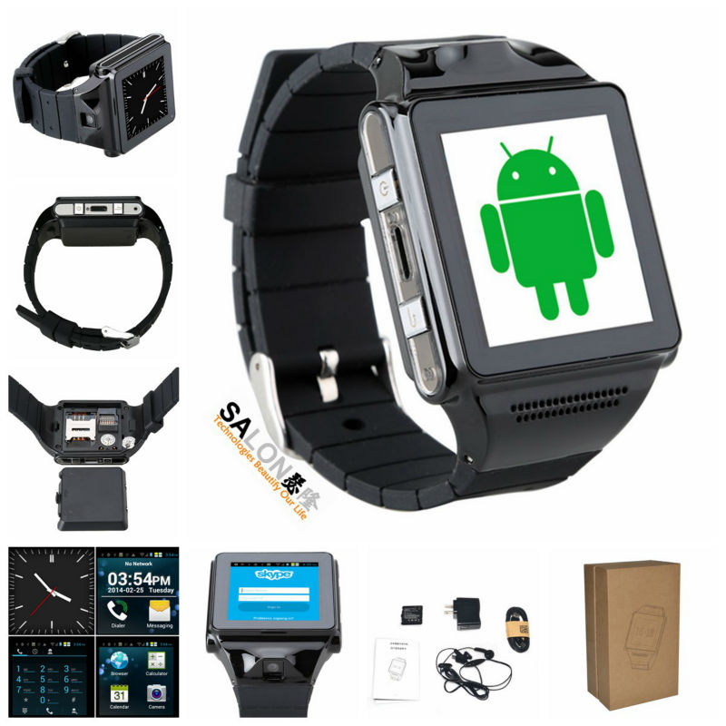 Top Quality MTK6577 Dual Core Android 4.04 wifi wrist watch cell phone