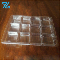 Cheap Disposable Bread Cake Snack Chocolate Clear Divided Blister Trays Packing