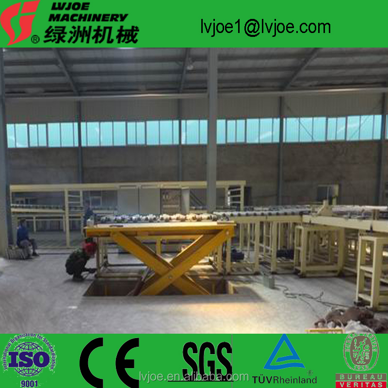 Hot air exchanging dry typ Plaster/gypsum board production line/manufacturing machine