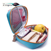 free sample customized blue small kids school cooler lunch bag for kids