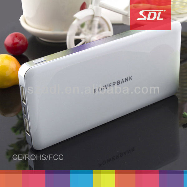 Hot sale Ultra thin power bank/ 12000mAh portable li-polymer battery charger/Portable emergency mobile power