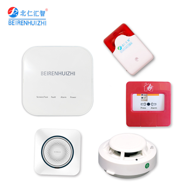 Home gsm addressable wireless fire alarm system with smoke detector