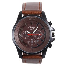 Drop shipping 2016 Luxury Brand Men Leather sport Watches Male Stainless Steel 3ATM Sport Wrist Watch