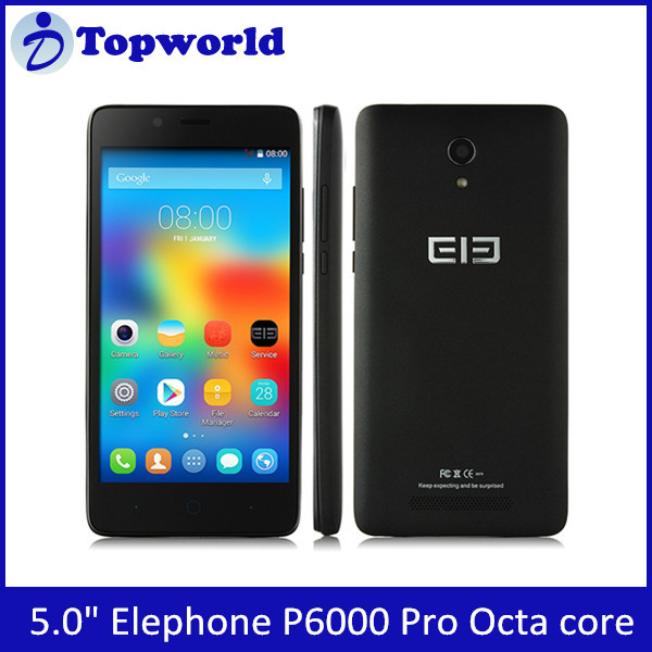 Original Hot 5 Inch Android 5.1 MTK6753 Octa Core 1.3Ghz RAM 3GB ROM 16GB 13MP 4G LTE Elephone P6000 Pro Smartphone