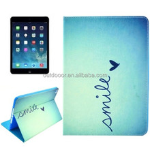 Smile Pattern Smart Leather Case for iPad 6