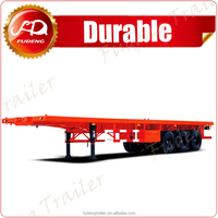 Cheap price 3 alxes 40ft flatbed container lorry trailer sale