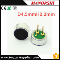 small electronic condenser microphone units with pin