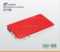 Red color power station 6000mAh starter battery booster for car and motorcycle
