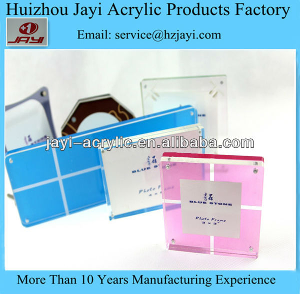 High Quality Plexiglass Magnet Photo Frame 4x6""