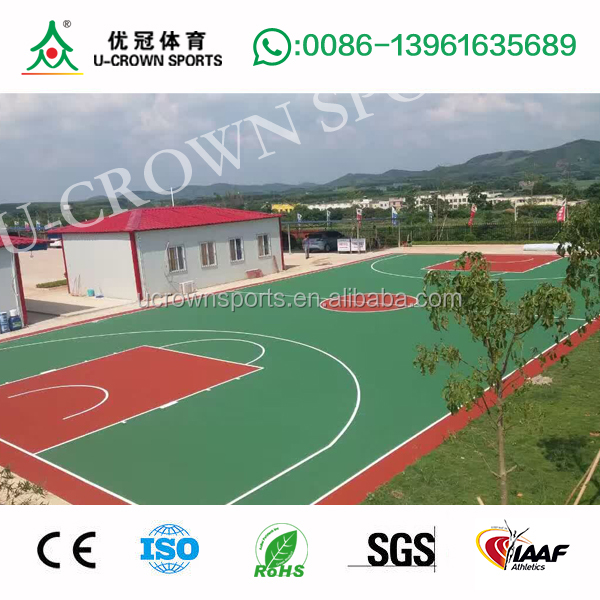 outdoor / indoor synthetic basketball court rubber flooring