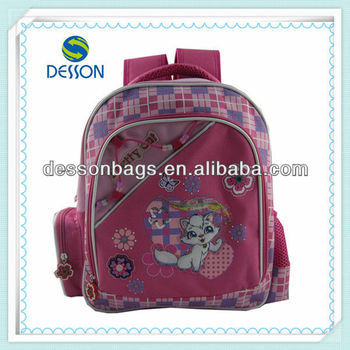 pretty cat-12 inchs trolley backpack