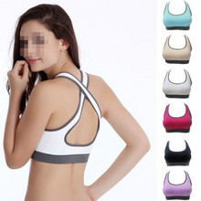 Multicolors ! Women Padded Top Athletic Vest Gym Fitness Sports Bra Stretch Cotton Seamless