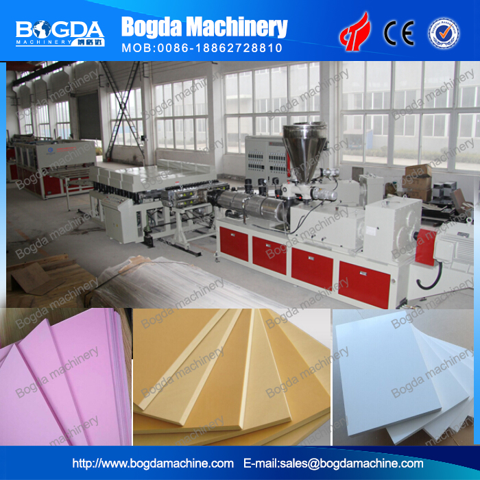 Foamed PVC Sheet Extrusion For Construction Decorations / PVC Skin Foaming Plate Produce